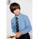 Camasa maneca lunga bleu uniforma scoala