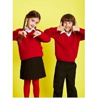 Pulover rosu uniforma scoala
