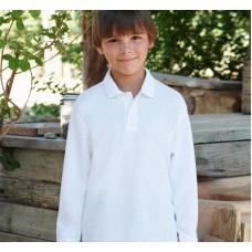 Tricou polo maneca lunga uniforma scoala